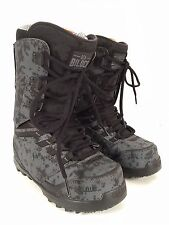 NEW THIRTYTWO LASHED BILOCQ Snowboard Boots Mens 7.5 Black Dirty Wash 2013 Grey