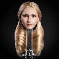 1/6 Female Head Sculpt Blonde Hair For 12'' Female Doll PHICEN Hot Toys Verycool