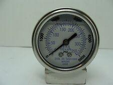 "302LFW-254R 2.5"" Glycerin Filled SS 316 Internal Gauge 1/4"" NPT CBM 0/5000 psi"