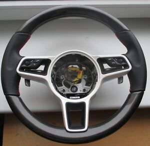 PORSCHE CARBON Leather PDK Steering Wheel Cayenne 958 MACAN Panamera Lenkrad