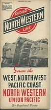 Chicago and North Western Railway. March 1944 Train Passenger Timetable Schedule
