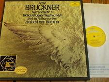 2707 102 Bruckner Symphony No. 7 / Wagner Siegfried Idyll / Karajan 2 LP box