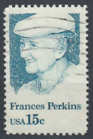 USA Briefmarke gestempelt 15c Frances Perkins / 721