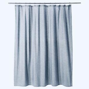 "THRESHOLD Textured Herringbone Shower Curtain | Blue | SQUARE | 72""x72"" | NWT"