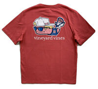 VINEYARD VINES Boys Lacrosse Bro Whale Pocket T-Shirt Lax Red Tee NWT LARGE 16
