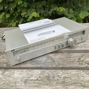 Vintage JVC T-V3L FM/MW/LW Stereo Tuner silver working with instructions manual