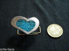 anello alluminio resina cuore azzurro nuova collezione regolabile bigiotteria