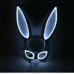 Cosplay Bunny Mask Party Props Cosplay Mask Party Mask Props Led Light up Mask