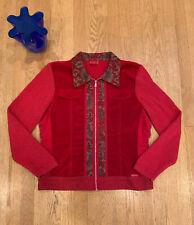 Blue Willi's Woman XL Zip Cardigan Jacket Sweater Coat Red Velvet