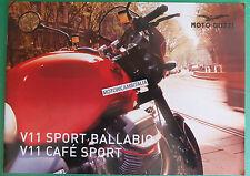 MOTO GUZZI V11 SPORT BALLABIO CAFE SPORT  DEPLIANT BROCHURE CATALOGO CATALOG