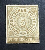 Altdeutschland Norddt. Postbezirk Mi. 6 Falz/*