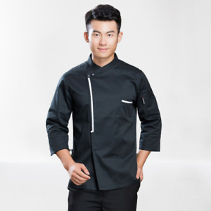 Men Women Long Sleeve Hotel Kitchen Apparel Chef Jacket Coat Uniform