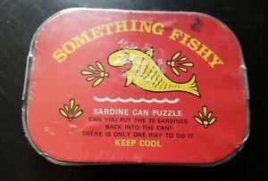Vintage Hasbro Something Fishy Sardine Can Skill Puzzle Toy