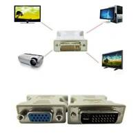 One Piece Female 15-Pin VGA to 24+1Male DVI-D Digital STB Interface Adapter