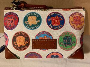 Dooney & Bourke Vintage Novelty Medallion Print Cosmetic Case NWT Coated Cotton