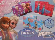 Memory Match Game DISNEY FROZEN 72 Cards Educational Learning S1-L - New