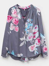 Ladies Joules Grey Beau Bloom Rosamund Pop Over Blouse (w) Size 8