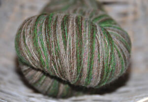 100% Schurwolle Tücherwolle Schafwolle Wolle Lace Strickgarn handgefärbt *632*