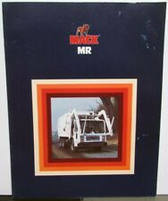 1981 Mack Trucks MR Series Diagrams Features Sales Brochure Original
