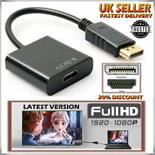 Display Port DP to HDMI Female Adapter Converter Lead Cable 20 Cm HDTV PC 1080p