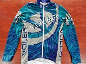 Voler Full Zip Up Long Sleeve Cycling Shirt Jacket Size: Small