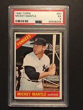 1966 Topps Mickey Mantle #50 PSA 5 EX HOF Yankees