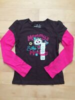 Jumping Beans Mommy's Silly Monkey Long Sleeve Top T-Shirt Size 7 Pink/Brown NWT