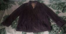 Mens Burberry Brown 100% Genuine Lambskin Leather Blazer Style Jacket Size 44