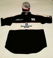 Kevin Harvick #29 Drivers Shirt w/ Hat SIGNED Nascar Chase Authentic GM Size M