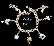 Kirks Folly 7 CHARM BRACELET~Fairy Crystal Garden~Honey Bee~Hive~Butterflies,FJT