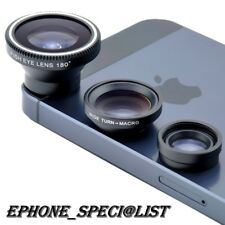 Magnetic 3 in 1 Wide Angle Fish Eye Macro Camera Lens Kit For iPhone Samsung