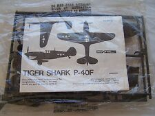 Tiger Shark P40f Airplane Owners Model Kit Toy Antique Gas Station Ad P 40