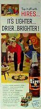 1960 Hires Root Beer Soda-Pop Bottle Carton Barrel AD