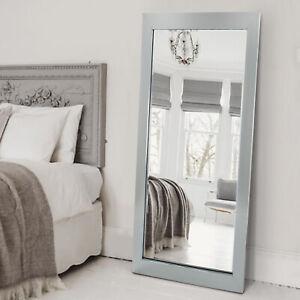 Silver Long Wall Mounted Bathroom Bedroom Hallway Living Room Mirror Full Length