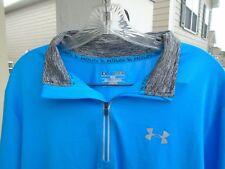 MENS XL Fitted - New Under Armour Run 1/2 Zip Running Pullover Shirt Jacket blue