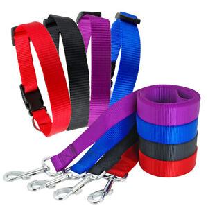 Nylon Dog Collar and Lead set Durable Pet Cat Puppy Walking Collar Light Weight