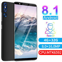 5.72'' Large Screen Smartphone Android 8.1 4G+32G 2SIM Unlocked Mobile Phone