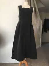 BNWT Toast OAS Heavy Cotton Twill Charcoal Pinafore Dress Size 12/14