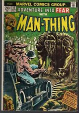 """FEAR ADVENTURE INTO #16 MARVEL 09/73 MAN-THING """"CRY OF THE NATIVE!"""" MAYERIK FN-"""