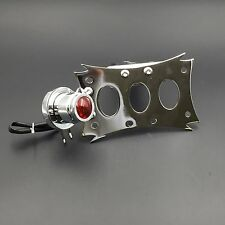 Chrome License Bracket & Tail Light Integrated For Harley Touring Bobber Chopper