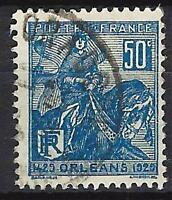 Francia 1929 Jeanne d'Arc Yvert nº 257 matasellado 1er elección (2)