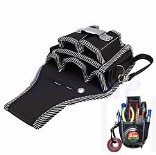 Electrician Waist Pocket Belt Tool Pouch Bag Screwdriver Utility Kit Holder New