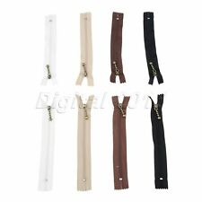 8Pcs 15cm 4Colors Metal Nylon Zipper Close End Zip DIY Jacket Coat Bag Sewing
