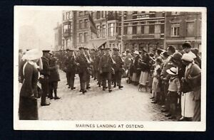 1914 ROYAL MARINES LANDING IN OSTEND