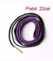 .22 Caliber Pistol Bore Snake Brush Rope Barrel Cleaner 22 Cal PISTOL Fast Ship