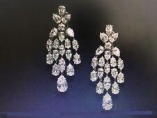 Classy 3.56 Cts F/VS1 Pear Marquise Cut Diamonds Dangle Earrings In 750 18K Gold