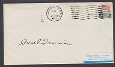 Paul Fannin, Governor and US Senator from Arizona, 1968 signed cover