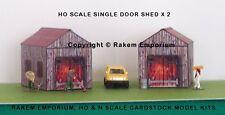 HO Scale Shed, Garage, Barn x 2 Model Railway Building Kit - HOSS1