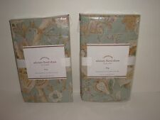 Pottery Barn S/2 Whitney Floral King Sham NIP Blue Multi French Floral