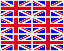 SelfAdh small UNION JACK  stickers/decals (SET OF 6) .Racecar/Cars/Boats/toys